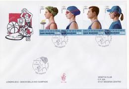 """2012 - FDC """" LONDRA - GIOCHI DELLA XXX OLIMPIADE """" VENETIA VEDI++++ - FDC"""