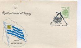URUGUAY. SOBRE PRIMER DIA. 1976. FDC. FLOR DE MBURUCUYA. FLOWER.  FIORE. FLEUR.  - NTVG. - Vegetales