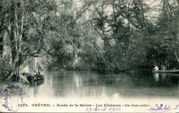 CPA - CRETEIL - BORDS DE MARNE - LES PECHEURS (ETAT PARFAIT) - Creteil