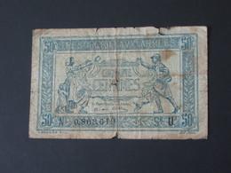50 Centimes - Trésorerie Aux Armées 1917 - U     **** EN ACHAT IMMEDIAT ****      Billet Recherché !!!! - Tesoro