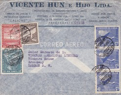 """CHILE. """"VICENTE HUN E HIJO"""" COMMERCIAL COVER CIRCULATED FROM ANTOFAGASTA TO BROADWAY, LONDON. YEAR 1948 PAR AVION -LILHU - Chile"""