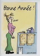 "Claire Bretecher ""Bonne Année ! ... Burp!"" - Hazan 1997 (cp Vierge) - Illustratoren & Fotografen"