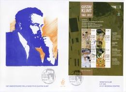 """2012 - FDC """" ANNIVERSARIO DELLA NASCITA DI GUSTAV KLIMT """" VENETIA VEDI++++ - FDC"""