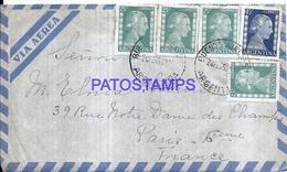126678 ARGENTINA BUENOS AIRES COVER YEAR 1954 CIRCULATED TO FRANCE STAMPS EVITA EVA PERON NO POSTAL POSTCARD - Ohne Zuordnung