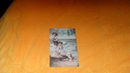 CARTE POSTALE ANCIENNE CIRCULEE DE 1911../ JOLIES BAIGNEUSES PLAGE...CACHET + TIMBRE - Women