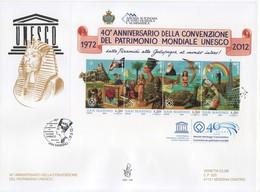 """2012 - FDC """" ANNIVERSARIO DELLA CONVENZIONE DEL PATRIMONIO UNESCO """" VENETIA VEDI++++ - FDC"""