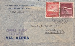 CHILE - ENVELOPE CIRCULATED FROM ANTOFAGASTA TO NEW YORK, U.S.A.. YEAR 1955, CORREO AEREO PANAGRA, PAR AVION. -LILHU - Chile