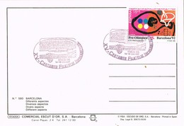 35019. Postal BARCELONA 1991. Certamen Filatelico Iberoamerica. Stamp Preolimpic TENIS Mesa Viladecans - 1931-Hoy: 2ª República - ... Juan Carlos I