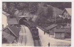 Station Des Convers - Train Vapeur - Oblit.linéaire - 1908           (P-197-90107) - NE Neuchatel