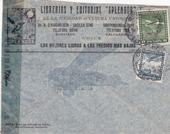 """CHILE - COMMERCIAL COVER CIRCULATED FROM VALPAISO TO NEW YORK, U.S.A.. CIRCA 1940's. """"EXAMINED BY"""" -LILHU - Chile"""