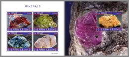 SIERRA LEONE 2019 MNH Minerals Mineralien Mineraux M/S+S/S - OFFICIAL ISSUE - DH1951 - Minerali