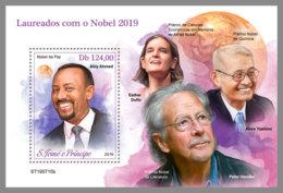 SAO TOME 2019 MNH Nobel Prize Winners 2019 Nobelpreisträger Prix Nobel S/S - OFFICIAL ISSUE - DH1951 - Nobel Prize Laureates