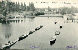 CPA -  CRETEIL - L'ECLUSE ET LE BARRAGE - Creteil