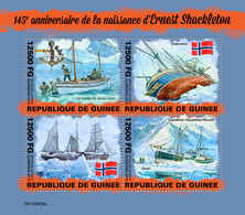 Guinea. 2019 145th Anniversary Of The Birth Of Ernest Shackleton. (0425a)  OFFICIAL ISSUE - Schiffe