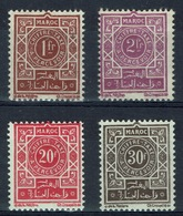 French Morocco, Postage Due, 1947, MNH VF Complète Set Of 4 - Morocco (1891-1956)