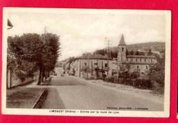 CPA (Réf : Z523) LIMONEST (69 RHÔNE) Entrée Par La Route De Lyon (vieilles Voitures) - Limonest
