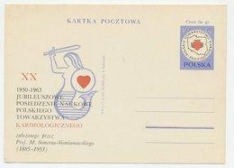 Postal Stationery Pland 1963 Cardiology - Mermaid - Health