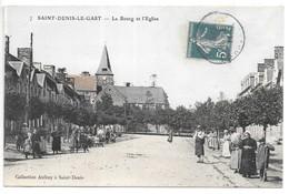 Cpa...Saint-Denis-le-Gast...le Bourg Et L'église...animée ...1911... - Autres Communes