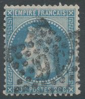 Lot N°51649  Variété/n°29A, Oblit étoile Chiffrée 16 De PARIS (R. De Palestro), Taches Blanches Face Au Menton. - 1863-1870 Napoleon III With Laurels