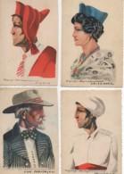 Illustrateur Pierre Jaillet LOT De 4 Cartes Type Provençal,niçois,Provence,arlésienne - Illustrateurs & Photographes