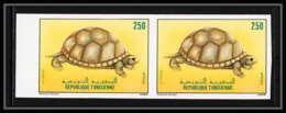 85474 N°1131 Paire Tortue Turtle Tunisie Tunisia Non Dentelé ** MNH (Imperforate) - Turtles