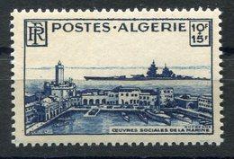 RC 15021 ALGERIE N° 273 OEUVRES SOCIALES DE LA MARINE COTE 12,00 NEUF ** MNH TB - Ungebraucht