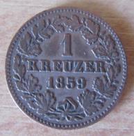 Etats Allemands / Nassau - Monnaie 1 Kreuzer 1859 - [ 1] …-1871 : German States