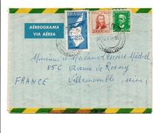 BRESIL AFFRANCHISSEMENT COMPOSE SUR LETTRE POUR LA FRANCE 1966 - Brazilië