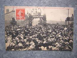 LIMOGES - CONCOURS MUSICAL 1910 - LA FOULE A L' ARRIVEE DE LA MUSIQUE - Limoges