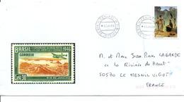 BRESIL LETTRE POUR LA FRANCE 1999 - Brazilië