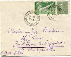 FRANCE THEME JEUX OLYMPIQUES LETTRE DEPART ARVANT-Cne DE BOURNONCLE 25-7-24 Hte LOIRE POUR LA FRANCE - Estate 1924: Paris