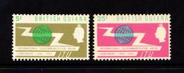 BRITISH  GUIANA      1965    I T U Centenary     Set  Of  2    MH - British Guiana (...-1966)