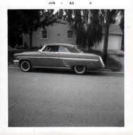 Photo Carrée Originale B.B. USA - Coupé Cabriolet Américain A Identifier En Juin 1963 - Chrysler, Cadillac, Chevrolet... - Automobiles
