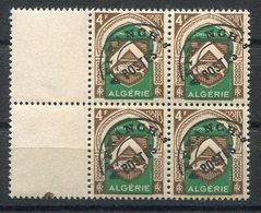 RC 15023 ALGERIE PRÉO N° 16 4F BLASON BLOC DE 4 COTE 5,00€ NEUF ** MNH TB - Ungebraucht