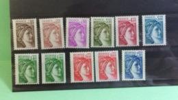 France (Lot Belle SérieType Sabine) 1981 - Neuf (Y&T 11Val) - Coté 13,70€ - Francia