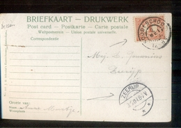 Zeerijp  Langebalk - Roodeschool  Grootrond - 1909 - Marcofilia