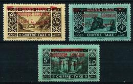 Gran Líbano (Francés) Nº Tx-26/8*/(*) Cat.17€ - Great Lebanon (1924-1945)