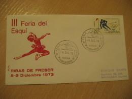 RIBAS DE FRESER 1973 Ski Skiing Cancel Cover Girona Ribes De Freser SPAIN - Ski