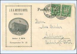 Y14603/ Soltau  J.D.A. Meyer`s Hotel AK 1926 - Germania
