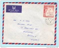 MALTA - Brief Cover Lettre 243 Queen - Georgskreuz    (23897) - Malta