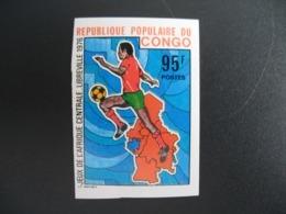 Timbre ND non Dentelé Neuf ** MNH - Imperf   Jeux De L'Afrique Centrale Football  Congo  N° 443 - Ongebruikt