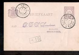 Scheemda Grootrond Groningen - In Granen - 1899 - Geuzendam - Postal History