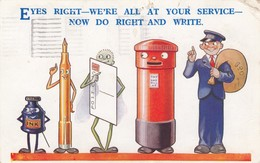 Eyes Right - We're All At Your Service, Now Do Right & Write , 1938 - Post & Briefboten