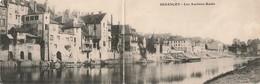 Double Carte Panoramique Panorama Besançon Les Anciens Quais - Besancon