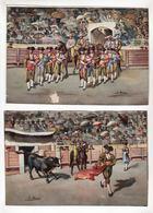 Série De 12 Chromos Sans Pub   CORRIDA   Tauromachie  Espagne     GRAND FORMAT     19.14 X 13.3 Cm - Cioccolato