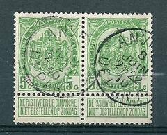 83 Gestempeld In Paar ANVERS DEPART - 1893-1907 Coat Of Arms