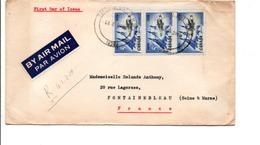 CANADA AFFRANCHISSEMENT COMPOSE SUR LETTRE FDC DE TORONTO POUR LA FRANCE 1959 - Covers & Documents