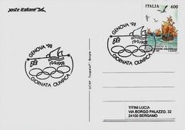 Genova 19-9-1992 - GIORNATA OLIMPICA - - Esposizioni Filateliche
