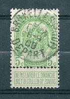 83 Gestempeld BRUXELLES MIDI DEPART - 1893-1907 Wappen
