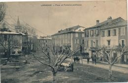J1 - 05 - LARAGNE - Hautes-Alpes - Place Et Fontaine Publiques - Andere Gemeenten